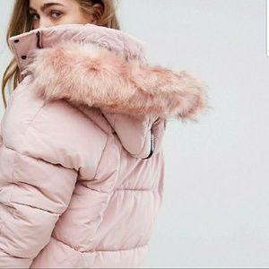 Gorgeous Fur River Island oversized jacket